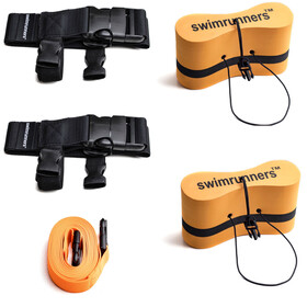 Swimrunners Guidance Kit Di Pull Belt Per Il Team, Medio, orange
